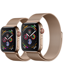 Apple Watch Series 4 44mm Gold Stainless Steel Case Milanese Loop (GPS+Cellular)