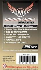 Mayday Games Card Sleeves (100 pack) (49 x 93mm)
