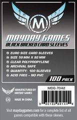 Mayday Games Card Sleeves (Black) (100 pack) (59 x 92mm)