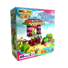 Xếp hình SMART-BRIKS ( FLOWER SHOP) No.291 49pcs