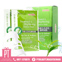 DM02 ☆ Dr.Morita Tea Tree And Kakorot Treatment and Brightening Essence Facial Mask 8Pcs