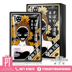Mặt Nạ Hoa Cúc Sexylook Intensive Acne Black Cotton Mask 5pcs