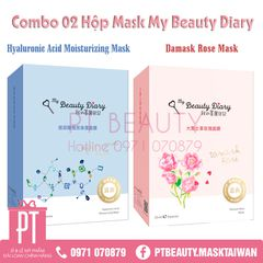 COMBO MASK HYALURONIC ACID & HOA HỒNG MY BEAUTY DIARY (2 hộp)