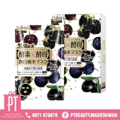 Mặt Nạ Sexylook Blackberries Enzyme Whitening & Hydrating Black Mask 4pcs
