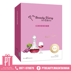 Mặt Nạ Rượu Vang Đỏ My Beauty Diary Red Vine Revitalizing Mask 8pcs