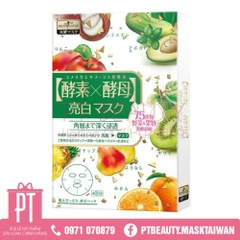 Mask Trắng Sáng Sexylook Rice Yeast & Fruits Enzyme Brightening 4pcs (màu trắng)