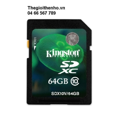 Thẻ nhớ Kingston SDHC 64GB class 10