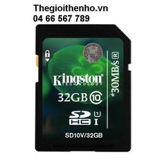 Thẻ nhớ Kingston SDHC 32GB class 10 UHS-I