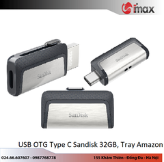 USB OTG Type C 3.0 Sandisk 32GB, Tray Amazon