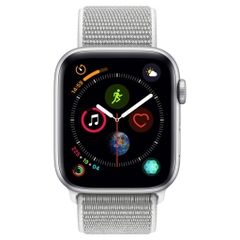 AppleWatch S4 Sport - 40mm (GPS+LTE) Silver Aluminum/ Seashell Sport Loop