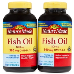 Dầu Cá Nature Made Fish Oil 1200mg Omega 3