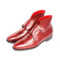 CAP TOE DOUBLE MONK BOOTS