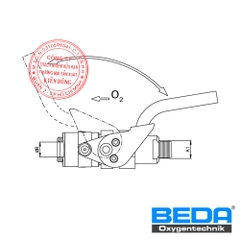 BEDA Oxygen Lance Holder with Lever Lock (BNF) Drawing