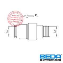 BEDA Oxygen Slag Return Safety Device (RL) Drawing