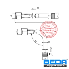 BEDA Oxygen Safety Extension Tube (SI) Drawing