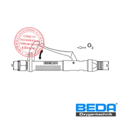 BEDA Oxygen Quick Shut Valve at the Lance (SSD) Drawing