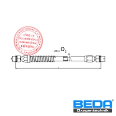 BEDA Security Oxygen Lance Hose with Glass Fiber Cover (LF) Drawing