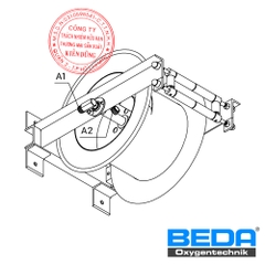 BEDA Oxygen Hose-Reels for 1 Hose (TXS-12) Drawing
