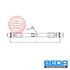 BEDA Oxygen Connecting Hose Between Hose-Reels and Supply-line (ZF/ZM) Drawing