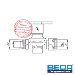 BEDA Shut-off Valve at Oxygen Supply-line with Screwed Cap