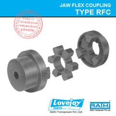 Trọn bộ khớp nối Type RFC Rathi Lovejoy Jaw Flex Coupling with Spider