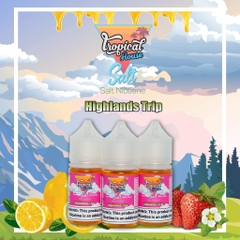 30ml salt Tropical House Highland Trip vị dâu mix chanh