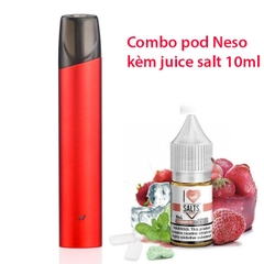 Combo Rincoe Neso X pod kit kèm juice salt nic 10ml