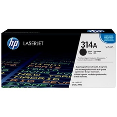 HP 314A Black Original LaserJet Toner Cartridge (Q7560A)