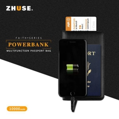 Bao da - kiêm Pin dự trữ - Passpost #ZHUSE_FAITH_SERIES POWER BANK 1000MAH