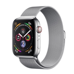 LTE 44mm  Stainless Steel Milanese Loop