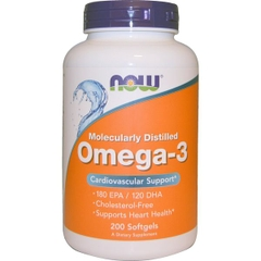 NOW Omega-3, 200 Softgels