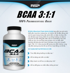 RSP Nutrition BCAA 3:1:1 Caps, 200 Capsules