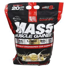 Elite Labs USA Mass Muscle Gainer, 20Lbs (9070g)