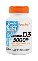 Doctor's Best Best Vitamin D3 5000 IU, 360 Softgels