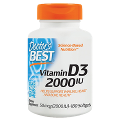 Doctor's Best Best Vitamin D3 2000 IU, 180 Softgels