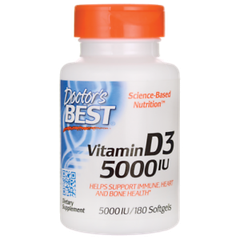 Doctor's Best Best Vitamin D3 5000 IU, 180 Softgels