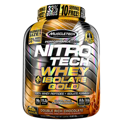 MuscleTech NITROTECH Whey Plus Isolate Gold, 4 Lbs