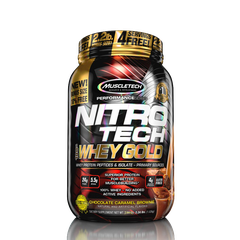 MuscleTech NITROTECH 100% Whey Gold, 2.2 Lbs
