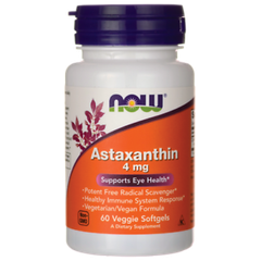 NOW Astaxanthin , 60 Veggie Softgels