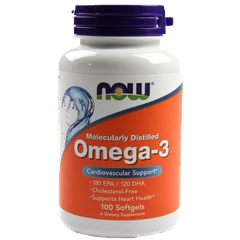 NOW Omega-3, 100 Softgels