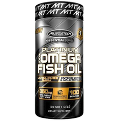 MuscleTech Platinum 100% Fish Oil, 100 Softgels