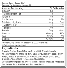 Six Star Pro Nutrition Casein Protein, 2Lbs