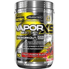 MuscleTech Vapor X5 Next Gen Pre-Workout, 60 Servings
