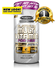MuscleTech Platinum Multivitamin For Her , 90 Tablets