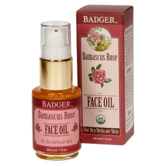Badger Damascus Rose Face oil fro dry/delicate skin 30ml