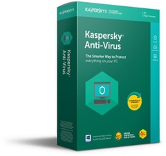 Phần mềm Kaspersky Anti Virus for 1PC ( KAS 1U)