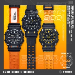 G-SHOCK GA-900C-1A4 HEAVY-DUTY ORANGE BAND | GA-900C-1A4DR