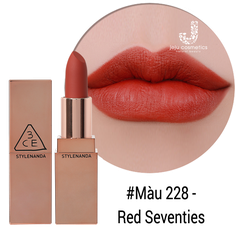 Son Lì 3CE Matte Lip Color 228 Red Seventies