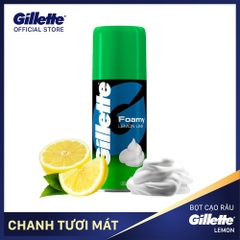 Bọt cạo râu Gillette Foamy Lemon Lime 175ml