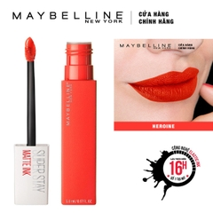 Son Kem Lì Maybelline Super Stay Matte Ink 5Ml số 25 Heroine